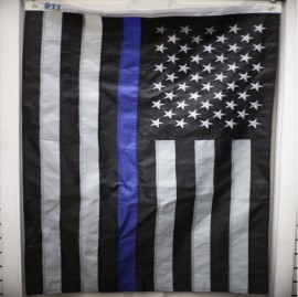 Blue line subdued flag